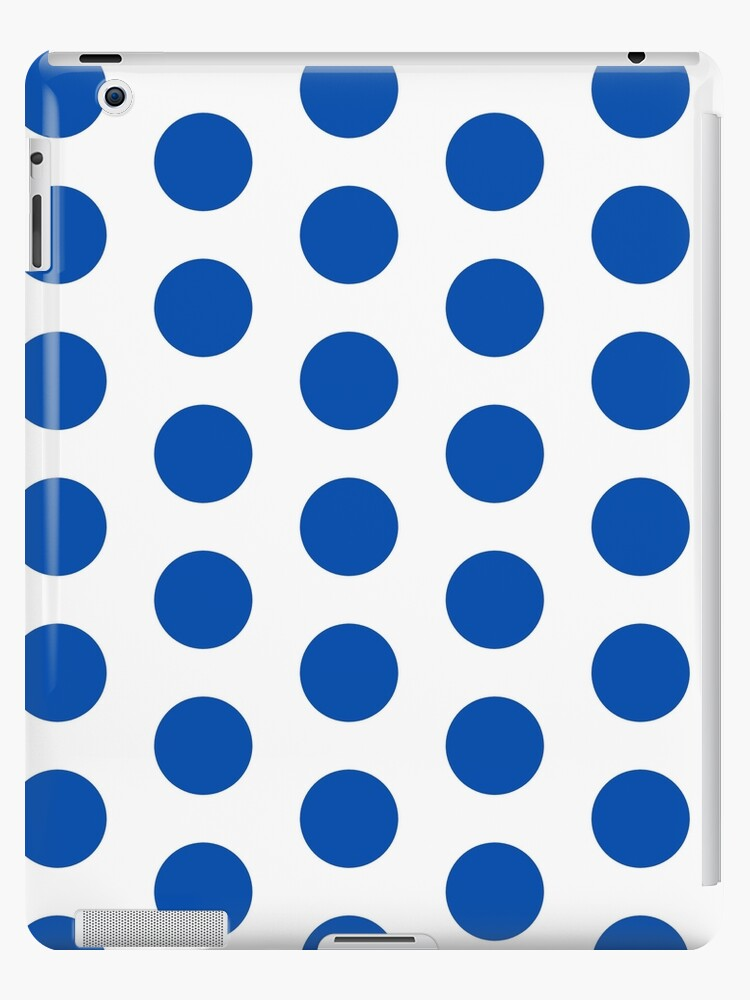 All Models Available The Retro Blue Circle-Dotted Pattern Skin Set for the Apple iPad