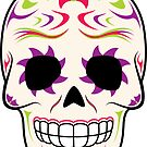Sugar Skull Purple and Green ~ Sticker by hmx23