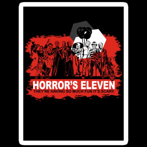 Horror's Eleven Sticker by Ryleh-Mason