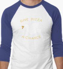 War & Pizza Men's Baseball ¾ T-Shirt