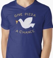 War & Pizza Men's V-Neck T-Shirt