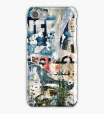 Beirut Street Art (Blue Man) iPhone Case/Skin