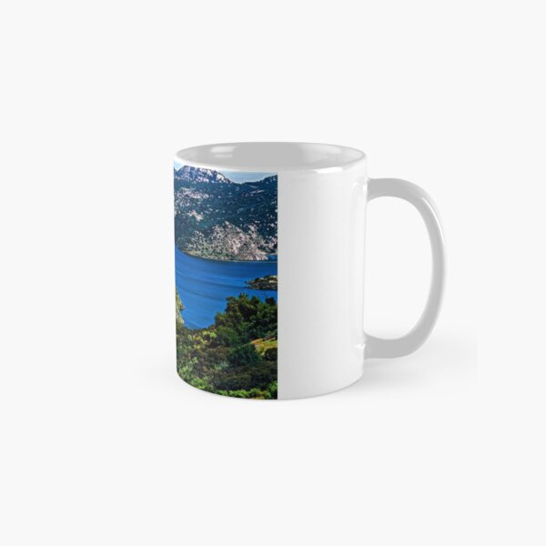 Blue and Green Spring Day Classic Mug
