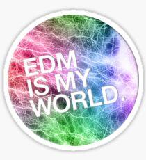 EDM  Is My World Sticker