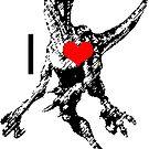 I Heart Velociraptors by Roberto A Camacho