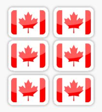 Flags of the World - Canada x6 Sticker