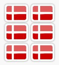 Flags of the World - Denmark x6 Sticker