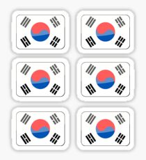 Flags of the World - Republic of Korea x6 Sticker