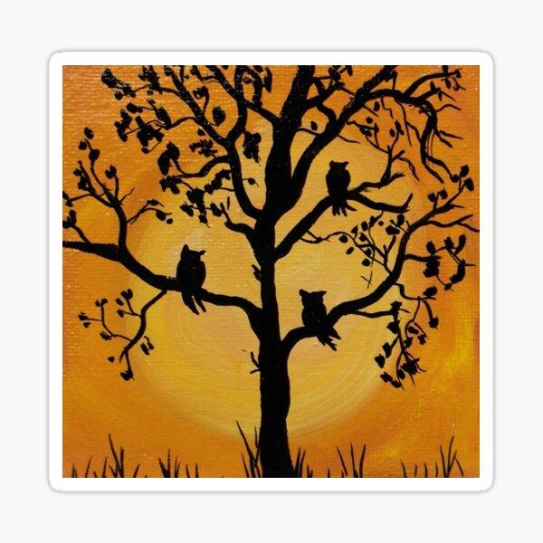 Owl Trio Sticker