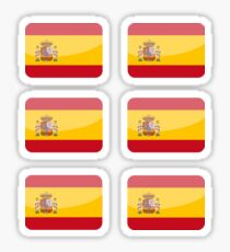 Flags of the World - Spain x6 Sticker