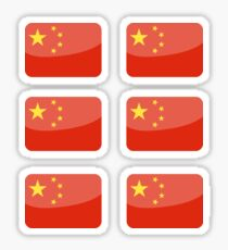 Flags of the World - China x6 Sticker