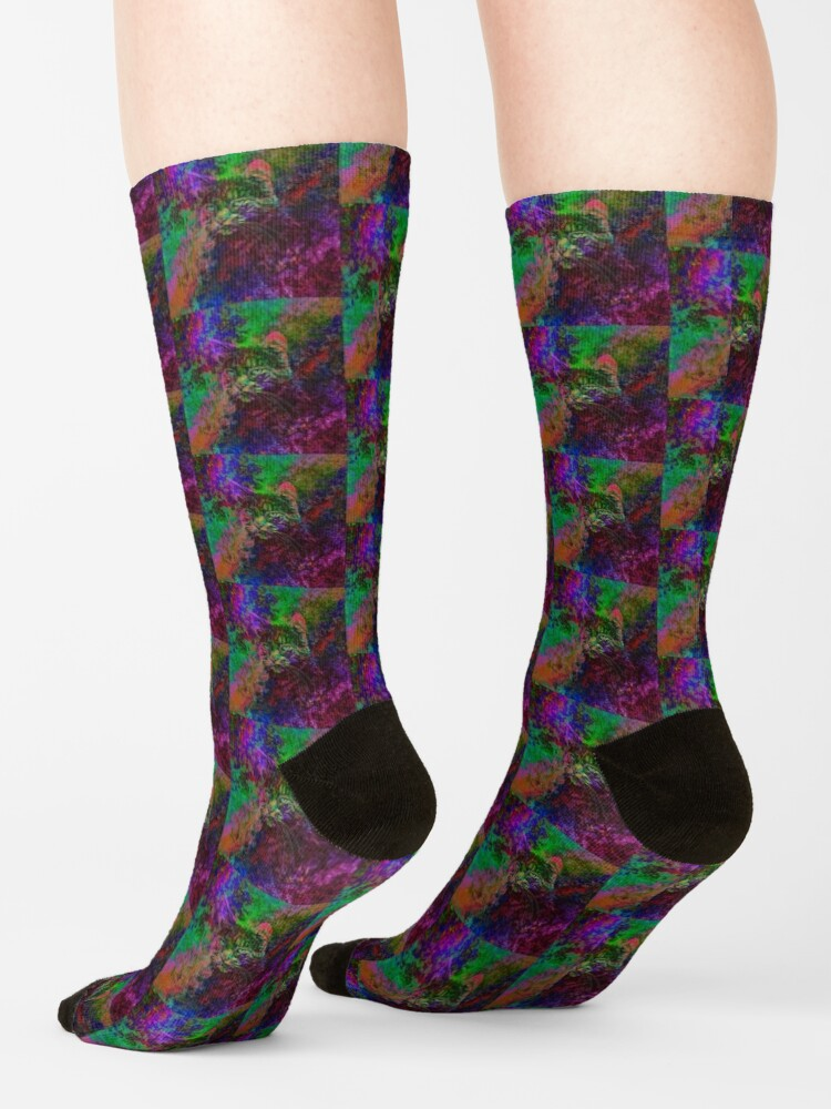 Alternate view of Abstraction Socks