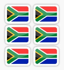 Flags of the World - South Africa x6 Sticker