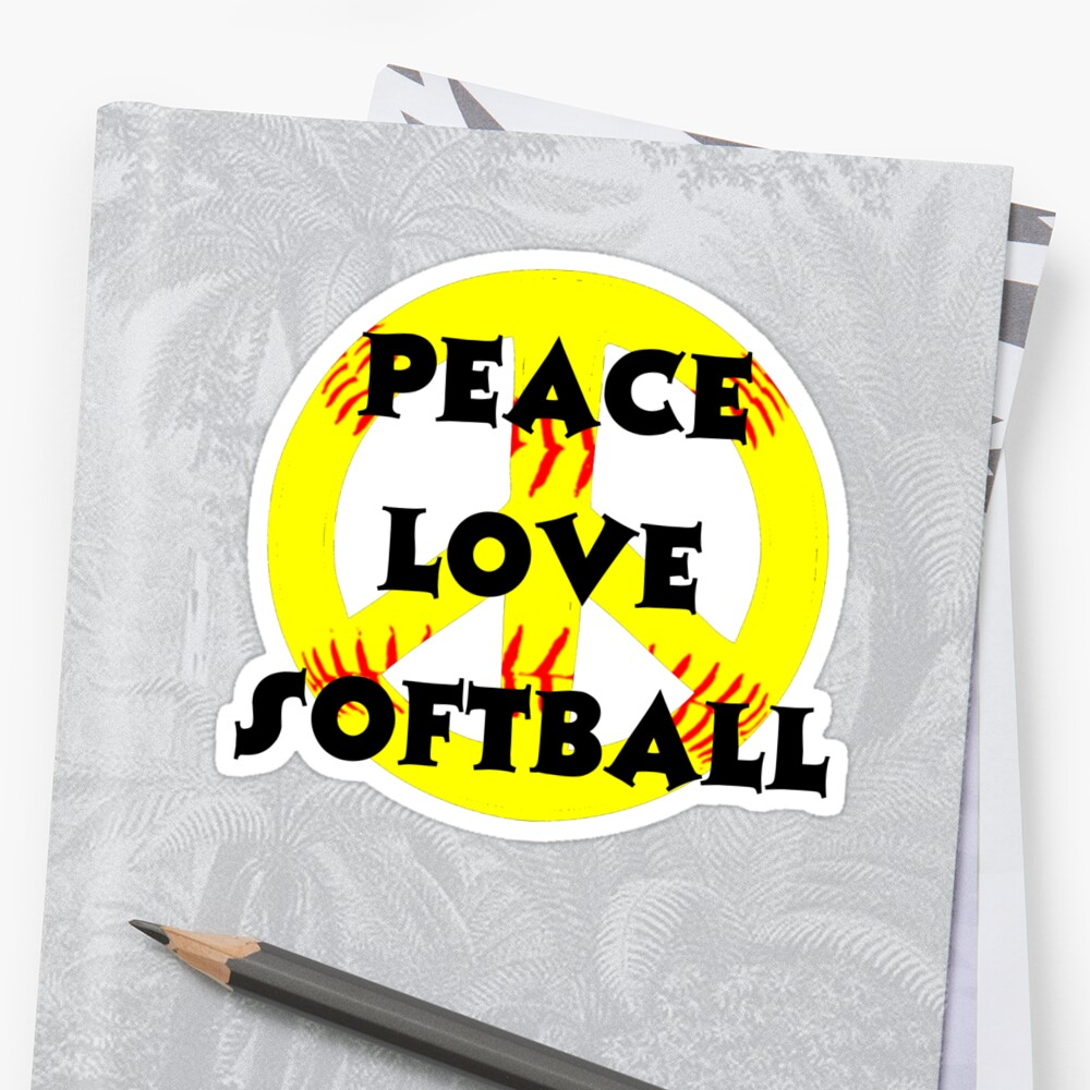 Peace, Love, Softball by shakeoutfitters