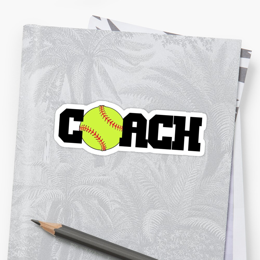 Softball Coach by shakeoutfitters