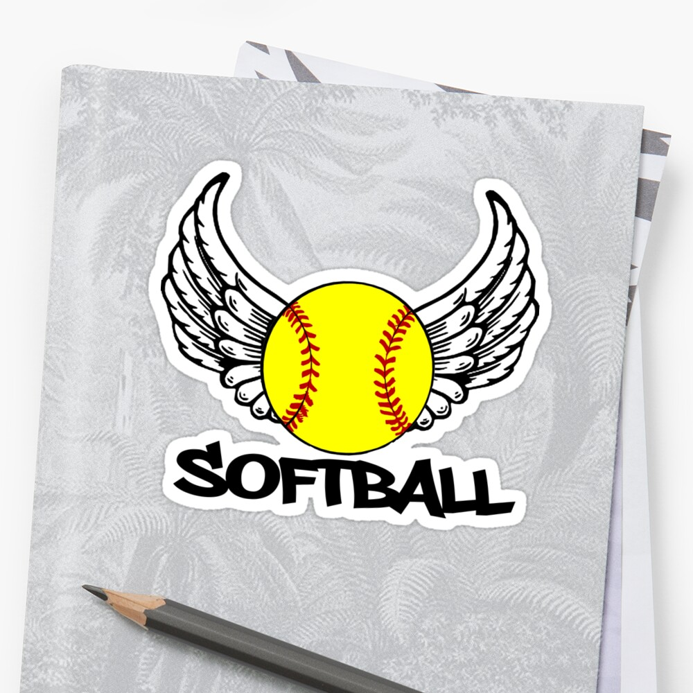Softball with Wings by shakeoutfitters