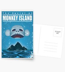 Monkey Island Travel Poster Postcards