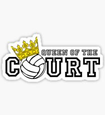 Queen of the Court Sticker