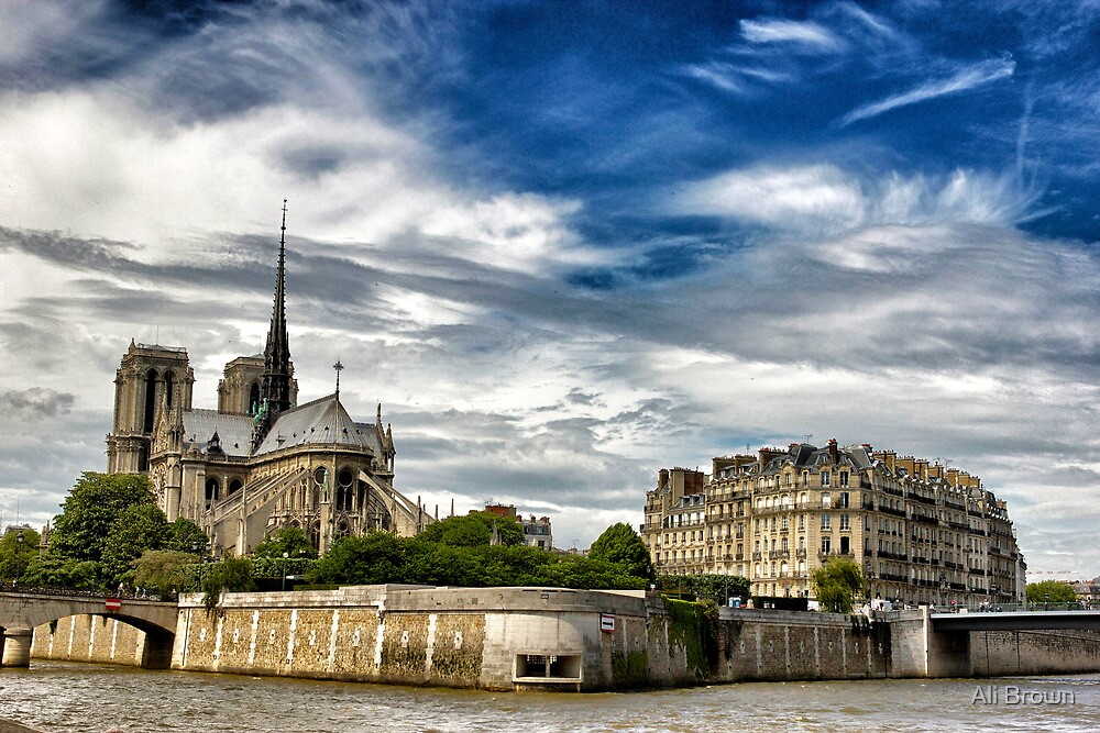Notre Dame from the River, Paris  by Alison  Brown