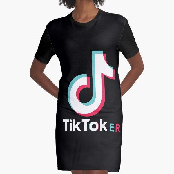 TikTokER Graphic T-Shirt Dress