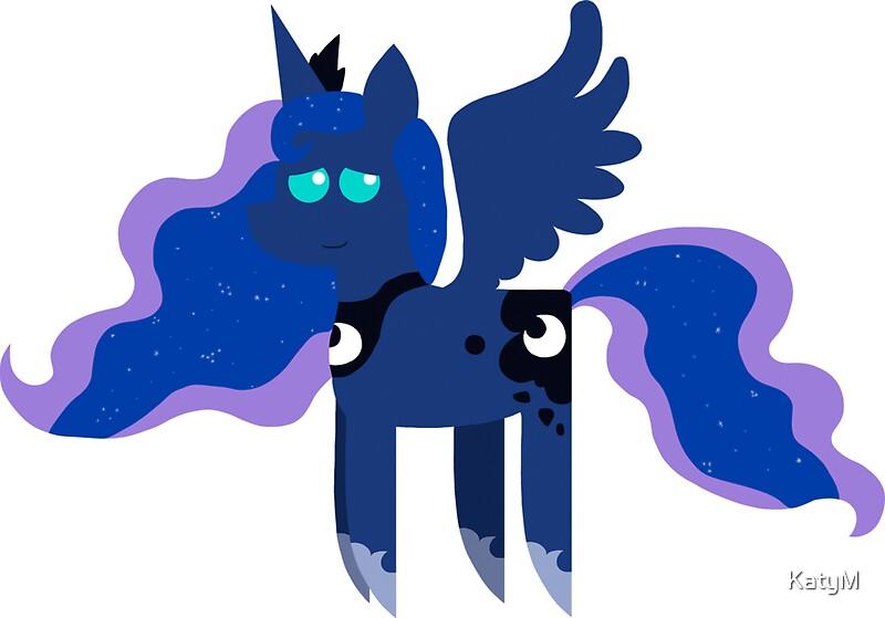 My Little Pony Princess Luna Bbbff Song Style Stickers By Katym Redbubble