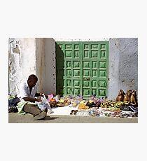 Street Vendor, Gran Canaria Photographic Print
