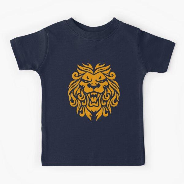 fierce cool royal-looking ornate roaring lion emblem  Kids T-Shirt
