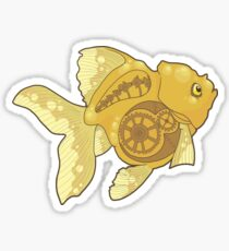 Clockwork Goldfish Sticker