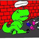 Drunk T-Rex by Roberto A Camacho