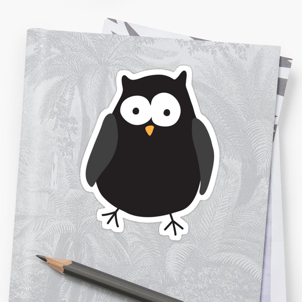 Quirky cartoon night owl by MheaDesign