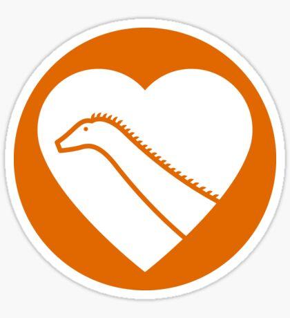 Dinosaur heart: Diplodocus sticker Sticker