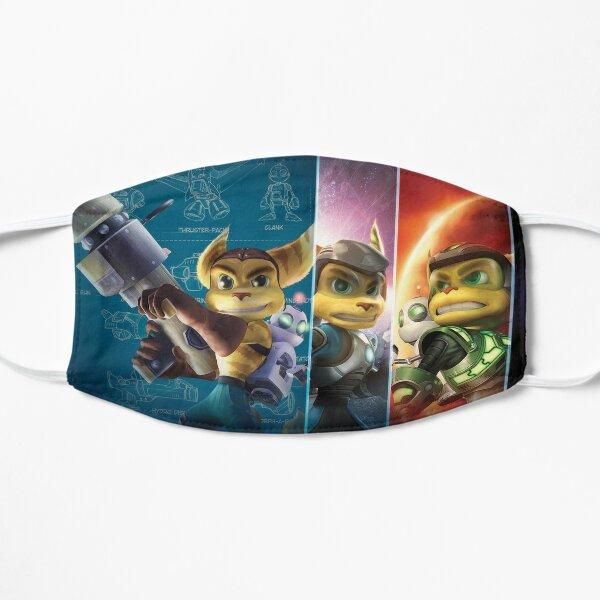 Ratchet y Clank Mascarilla plana