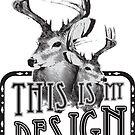This is My Design: Vintage Deer by taxdollars