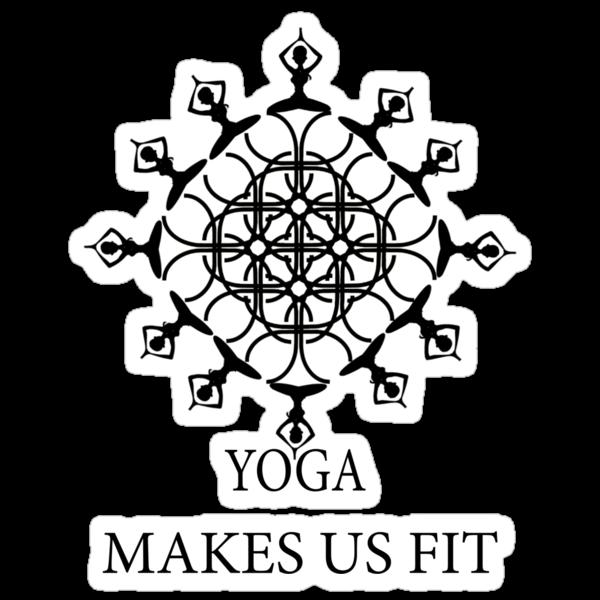 Yoga Makes Us Fit ! Sticker by AbhishekAnand