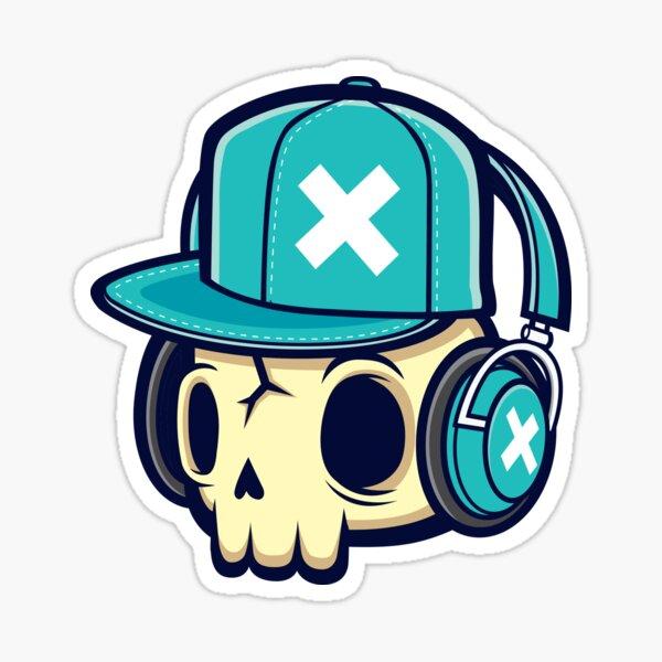 Skull and Headphones Sticker