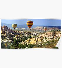 balloons over cappadocia Poster
