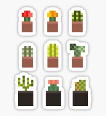 Mini Cacti Pots - Set of 9 Sticker