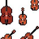 Mini Pixel Strings - Set of 5 by pixelatedcowboy