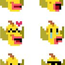 Mini Pixel Weepinbell Faces - Set of 6 by pixelatedcowboy