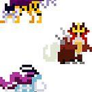Mini Pixel Legendary Beasts - Set of 3 by pixelatedcowboy