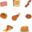 Pixel Junk Food Stickers 6 by siins