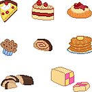 Pixel Junk Food Stickers 5 by siins