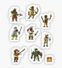 Pixel Pugilists Sticker