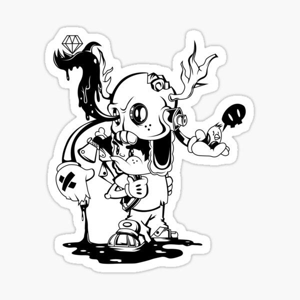 Hatchet Hippie Sticker
