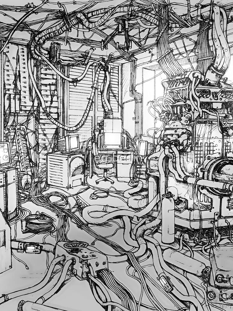 Serial Experiments Lain - Bedroom by eg-berlin