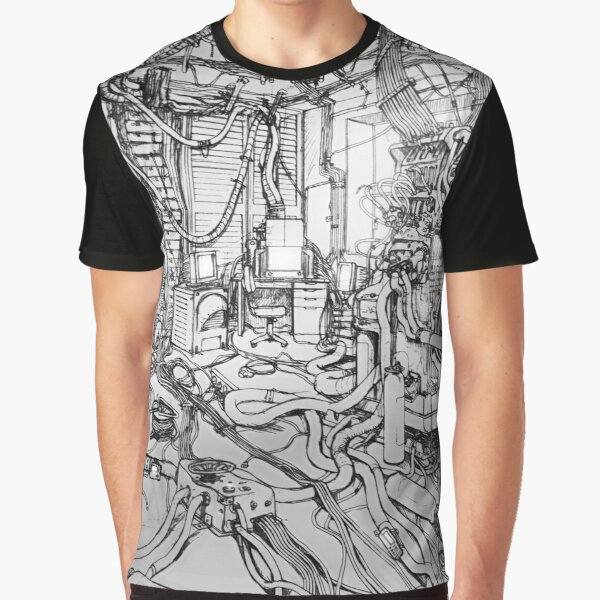 Serial Experiments Lain - Bedroom Graphic T-Shirt