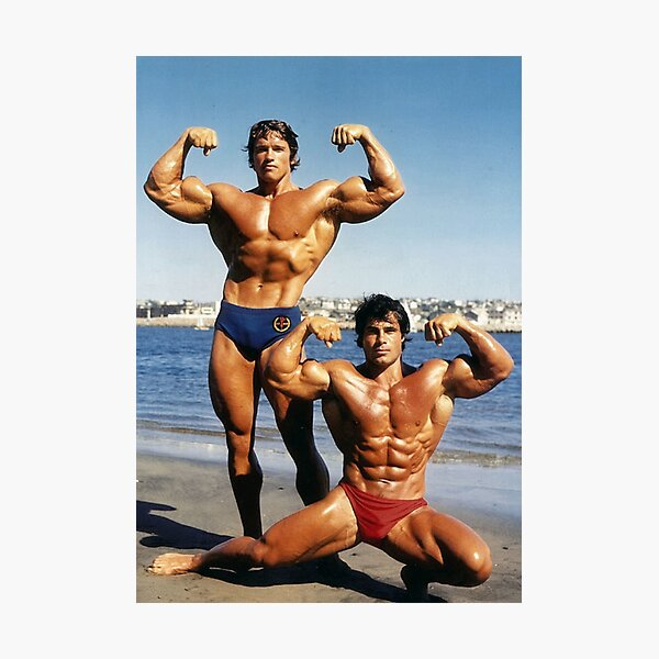 Franco and Arnold on the Beach Photographic Print