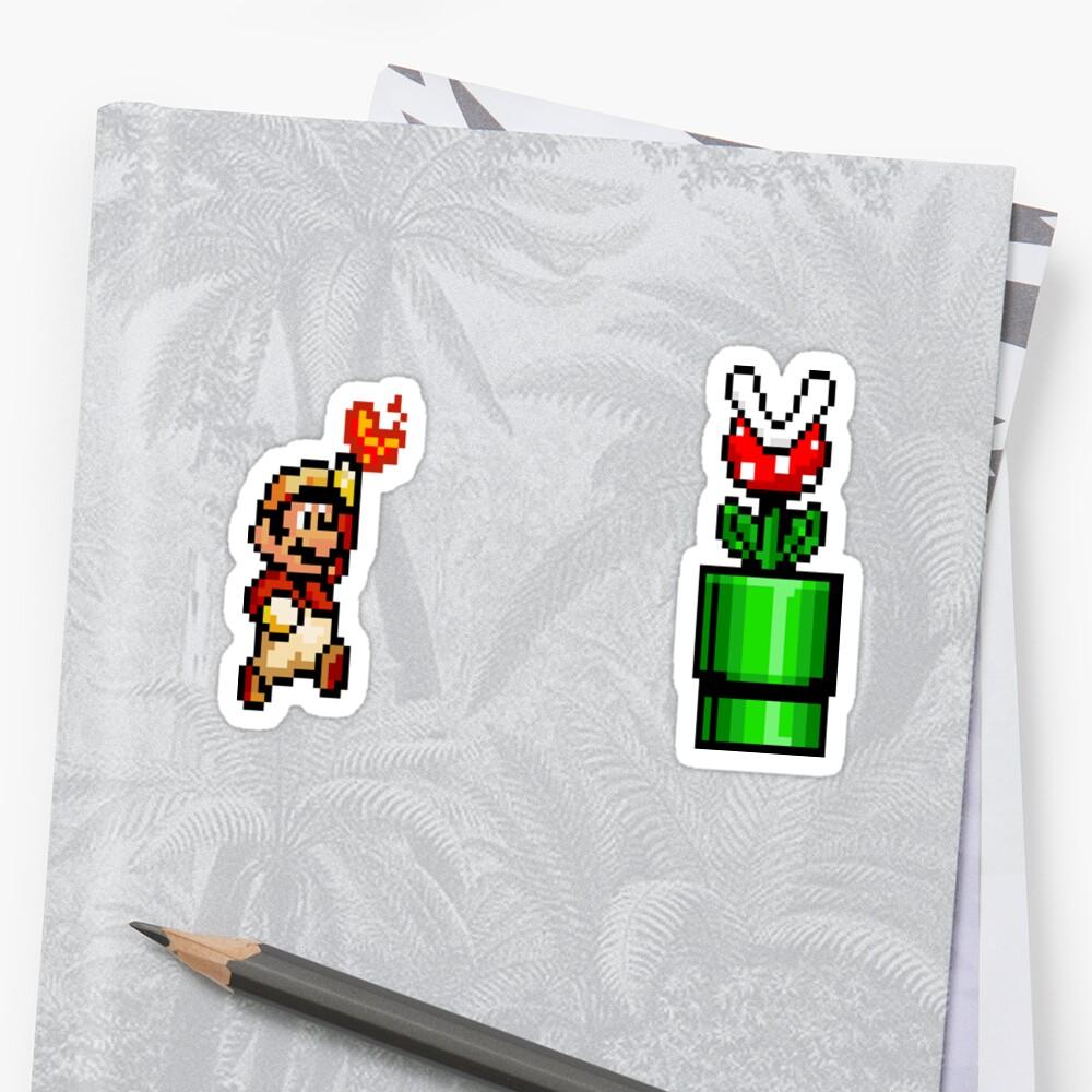 8 Bit Mario Vs Piranha Plant- Pixel by salodelyma