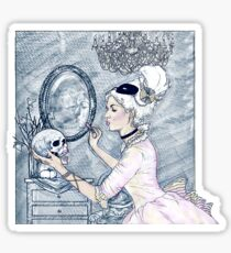 Marie Antoinette Halloween Blue Sticker