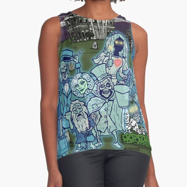 Grim Grinning Ghosts Sleeveless Top